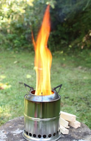 Schön - Burning Backpacking Stove Ultra Light Weight Compact Design - Strong, Solid Gasifier Twig Stove, Camping, Hunting & Emergency Preparation.