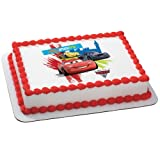 Disney's Cars 2 World Grand Prix Edible Icing Cake Topper