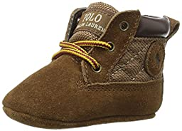 Ralph Lauren Layette Tramble Rugged Boot (Infant/Toddler), Snuff Suede, 0 M US Infant