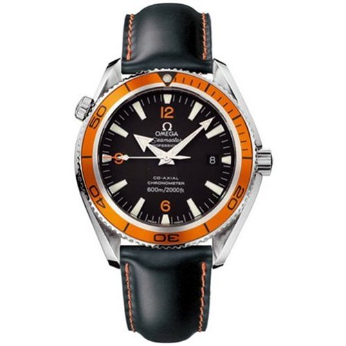 Omega Men's 2908.50.82 Seamaster Planet Ocean Automatic Chronometer Orange Bezel Watch
