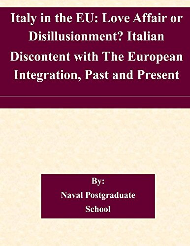 Naval Postgraduate School - Italy in the EU: Love Affair or Disillusionment? Italian Discontent with The European Integration, Past and Present (English Edition)