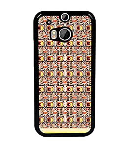 PrintDhaba Pattern D-1501 Back Case Cover for HTC ONE M8 EYE (Multi-Coloured)