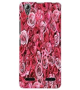 ColourCraft Beautiful Roses Design Back Case Cover for LENOVO A6000 PLUS