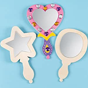 Spiegel aus holz f r kinder zum bemalen und dekorieren for Spiegel dekorieren