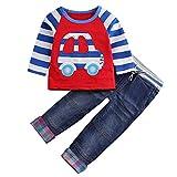 Le SSara enfantsjeuxdecostumegarçonsautomnedessin animévoiture&BearT-shirt&Jeans2p (3-4 ans, Voiture)...