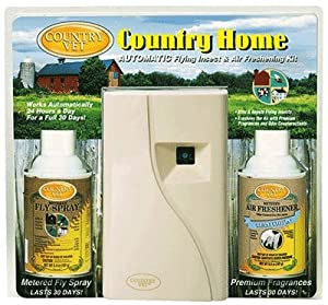 Country Vet Metered Flying Insect Control Kit - KIT INCLUDES DISPENSER, FLY SPRAY, AIR FRESHENER