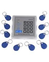 Andoer RFID Proximité Entrée Serrure de porte Système de contrôle d'accès + 10 Télécommandes