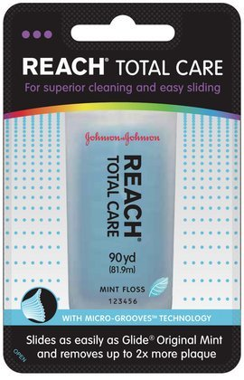 Reach Total Care Dental Floss-Mint-90 yds. (Quantity of 3)