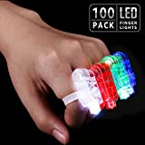 LED Finger Lights, Ambience Pro Party Favors, Celebration Toys for Easter, Christmas, Halloween, Carnival, Concert, Wedding, Labor Day, Veteran's Day, Pack of 100