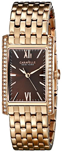 Caravelle New York Women S 44l120 Analog Rose Gold Dress Watch Discount Pozuqy