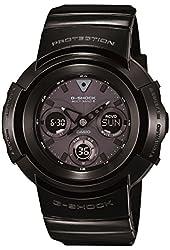 Casio G-Shock Black Dial Black Resin Multi Quartz Men's Watch AWGM510BB-1A
