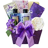Art of Appreciation Gift Baskets Tranquil Delights Lavender Spa Bath and Body Set