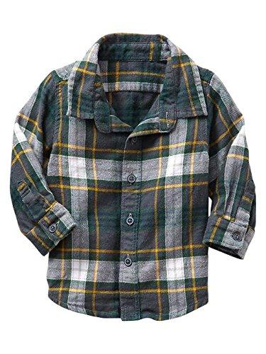 Gap Baby Plaid Flannel Shirt Size 0-3 M front-1060542