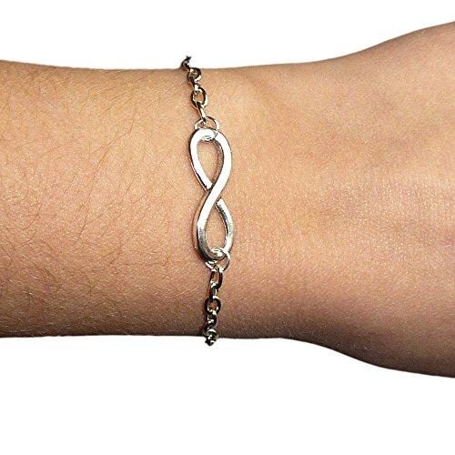 Bracciale braccialetto Infinito infinity metallo