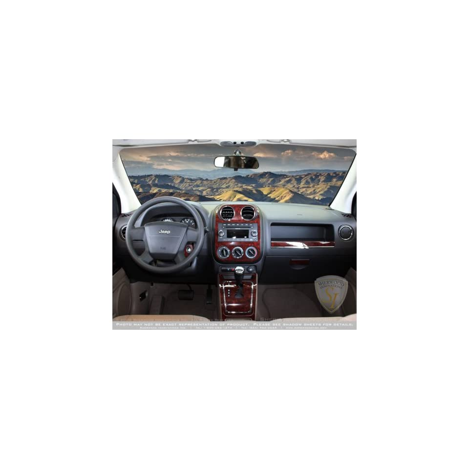 Interior Wood Dash Trim Kit for JEEP COMPASS 2009 up in Red Burlwood