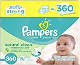 Pampers Natural Clean Baby Wipes Refill - 360ct