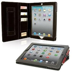 Snugg iPad 2 Case - Executive Smart Cover With Card Slots & Lifetime Guarantee (Black Leather) for Apple iPad 2