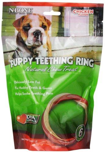 N Bone 6 Pack Puppy Teething Ring Chicken Flavor