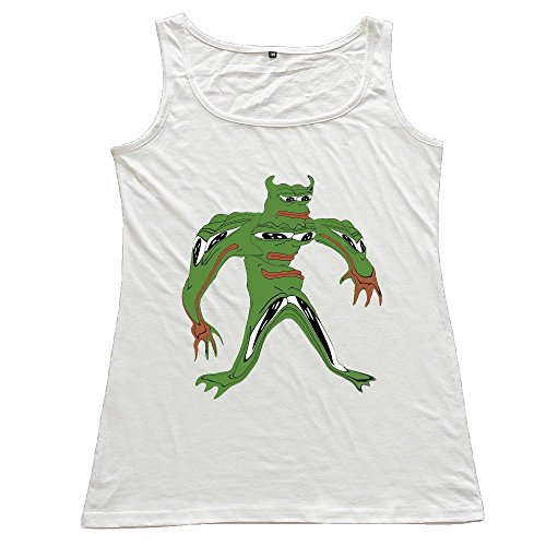 Nubia Frog Sodier Athletic Tank Tops For Women's White Size XXL