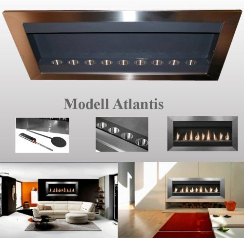 XXXL Stainless Steel Fireplace - Atlantis