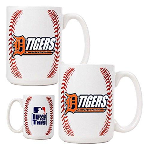 Mlb Detroit Tigers Two Piece Gameball Coffee Mug Set