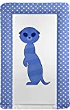 Baby Changing Mat Meerkat Blue and Pink Versions Available Blue