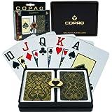 Trademark Copag Bridge Size Jumbo Index - Iluminura Setup Playing Cards (Black/Gold)