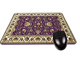 1 X Purple Persian/Oriental Rug-Mat- Square Mousepad - Stylish, durable office accessory and gift