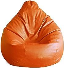 Fab Homez Bean Bag Cover (Orange, Large)