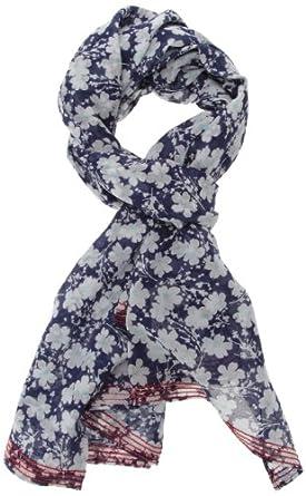 Tommy Hilfiger Marina - Foulard - À fleurs - Fille - Bleu (Medieval Blue/Multi) - One Size (Taille fabricant: Taille Unique)
