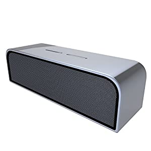 Zhicity Portable Outdoor Bluetooth Speaker HiFi Stereo Sound Wireless Audio 2,000mAh Capacity Hands-free Talk Home Subwoofer Space Gray