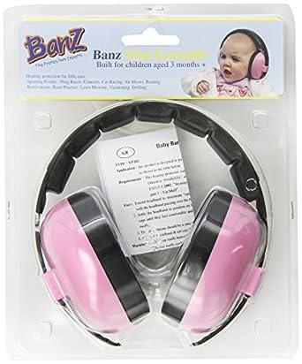 Banz Mini Earmuffs - Age 3 Months + - Pink
