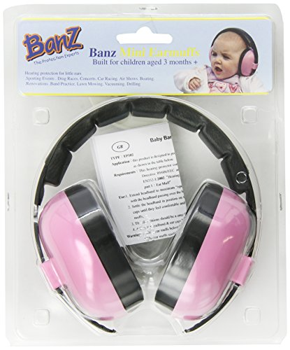 Great Deal! Baby BanzearBanZ Infant Hearing Protection, Pink
