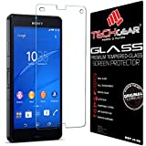 TECHGEAR® Sony Xperia Z3 Compact GLASS Edition Genuine Tempered Glass Screen Protector Guard Cover (Models: D5803, D5833)
