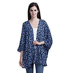 MansiCollections Causal Women's Floral Print Shrug (X-Large)