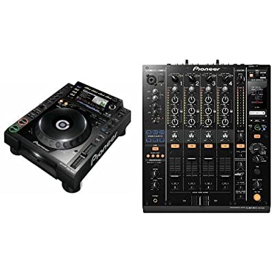 Pioneer CDJ-2000-NXS Digital DJ Turntable and Mixer Bundle