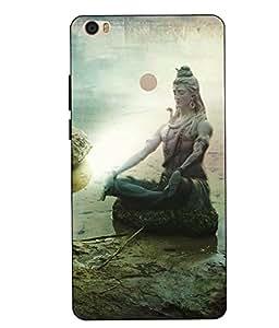 Make My Print Lord Shiva Printed Multicolor Hard Back Cover For Xiaomi Redmi MI MAX