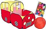 shuhali 子供テント 子供用 おもちゃ テントハウス ボールプール テント 室内 くるま 大きめ 150cm (ボール100個付き) shuhali,inc.Jp【シュハリジャパン】