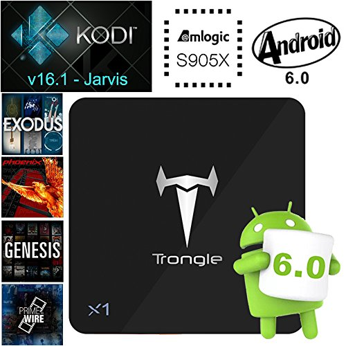SEGURO X1 Smart TV Box Android 6.0 TV BOX Amlogic S905X Quad Core KODI 16.1 Pré-installer 2GB DDR3 8GB Flash 2K&4K HD & Blue Ray 3D Média Player WiFi Kodi Box