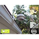 White Solar Outdoor Garden Utility Gutter Roof LED Light Clip Mount