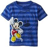Disney Little Boys' Mickey Striped Fashion Tee