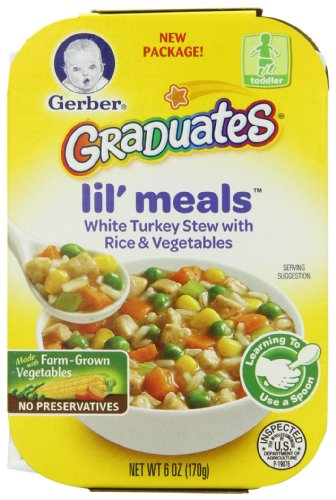 Gerber Graduates Lil' Meals, White Turkey Stew with Rice and Vegetables, 6 Ounce (Pack of 6)
