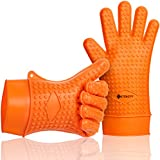 Etekcity Heat Resistant Silicone BBQ Grill Oven Gloves, FDA Approved