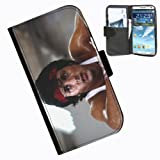 Hairyworm-Rocky Samsung Galaxy Note 3 leather side flip wallet case cover for Samsung Galaxy Note 3 phone