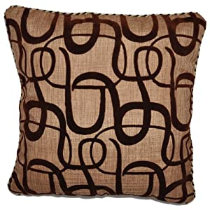 "AUTHENTIC JUTE (TWEED) MODERN 16"" X 16"" THROW PILLOW COVER (BROWN)"