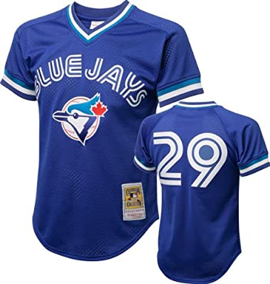 Joe Carter #29 1993 Toronto Blue Jays Royal Mitchell & Ness Mesh BP Jersey