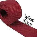 5 Yard Cotton Webbing – 1 1/4″ Medium Heavy Weight – Black