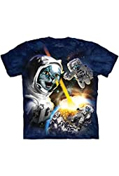 The Mountain Cataclysm Cat Astronaut Adult T-shirt