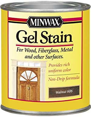 Minwax 26060 1/2 Pint Gel Stain Interior Wood, Walnut