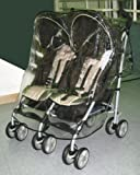 Sashas Rain and Wind Cover for Graco Twin IPO Side by Side Double Stroller